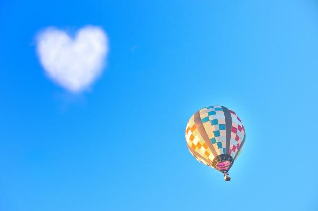 気球とハート